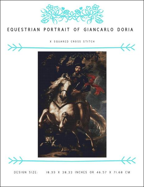 click here to view larger image of Equestrian Portrait of Giancarlo Doria (chart)
