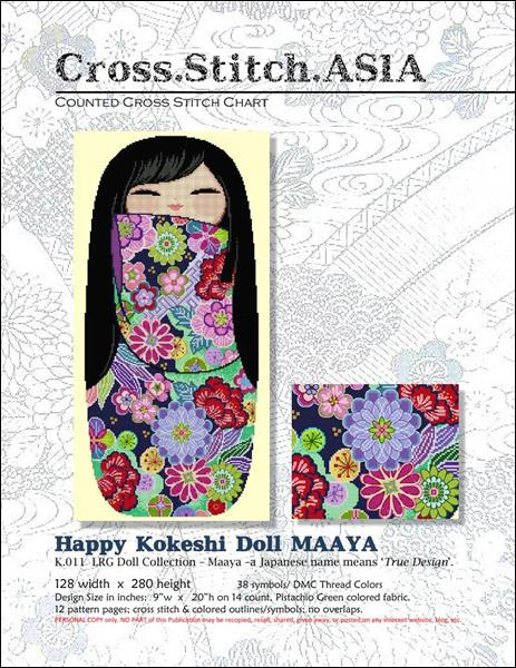 click here to view larger image of Happy Kokeshi Doll Maaya (chart)