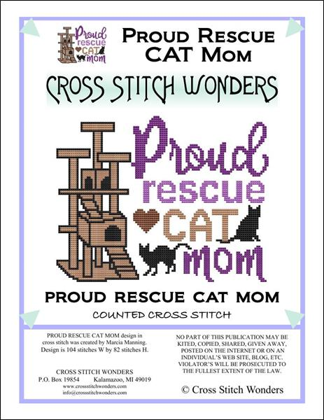 click here to view larger image of Cat - Proud Rescue Cat Mom (chart)