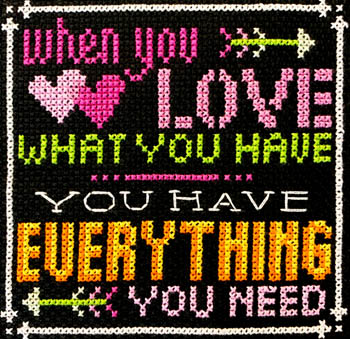 click here to view larger image of Words to Live By 8 - Love What You Have  (chart)
