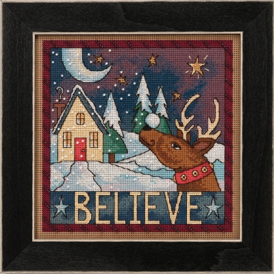 click here to view larger image of Believe - Sticks Kit (counted cross stitch kit)