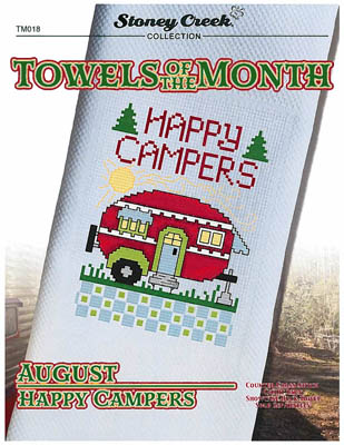 click here to view larger image of Towels of the Month - August Happy Campers (chart)