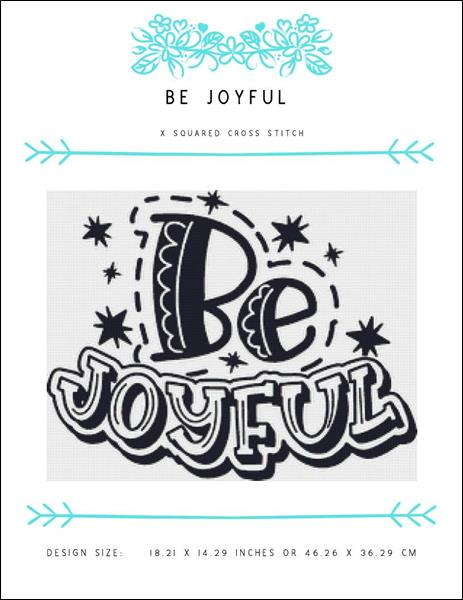 click here to view larger image of Be Joyful (chart)