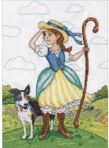 click here to view larger image of Little Bo Peep (counted cross stitch kit)