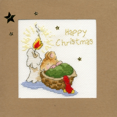click here to view larger image of First Christmas - Christmas Card  (counted cross stitch kit)