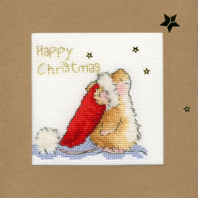 click here to view larger image of Star Gazing - Christmas Card  (counted cross stitch kit)