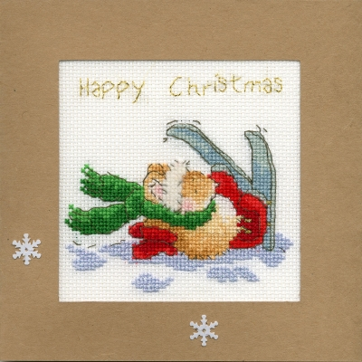 click here to view larger image of Apres Ski - Christmas Card  (counted cross stitch kit)