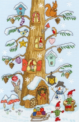 click here to view larger image of Santa's Little Helper  (counted cross stitch kit)