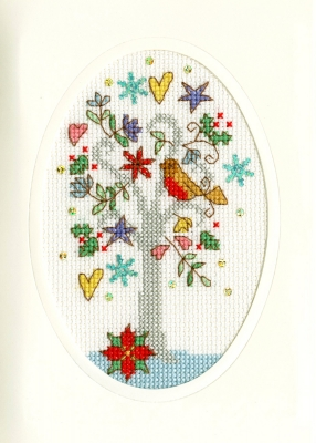 click here to view larger image of Winter Wishes - Christmas Card  (counted cross stitch kit)