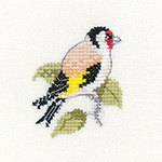 click here to view larger image of Goldfinch - Little Friends Collection (counted cross stitch kit)