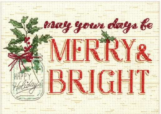 click here to view larger image of Merry And Bright (counted cross stitch kit)