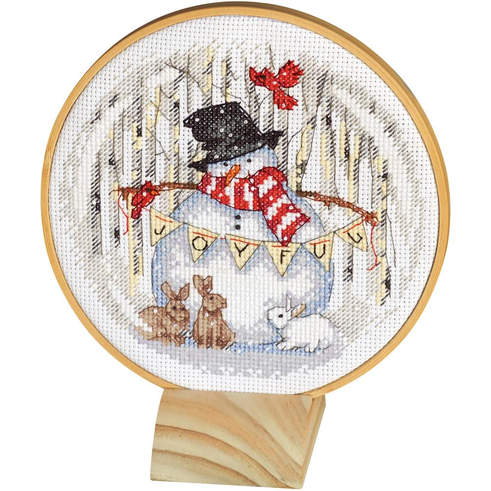 click here to view larger image of Joyful Snowglobe (counted cross stitch kit)
