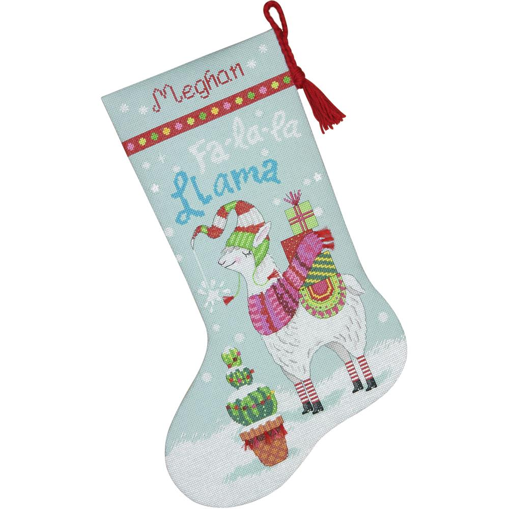 click here to view larger image of Llama Stocking (counted cross stitch kit)