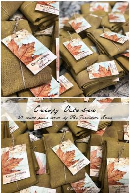 click here to view larger image of Crispy October 30ct Linen (fabric)
