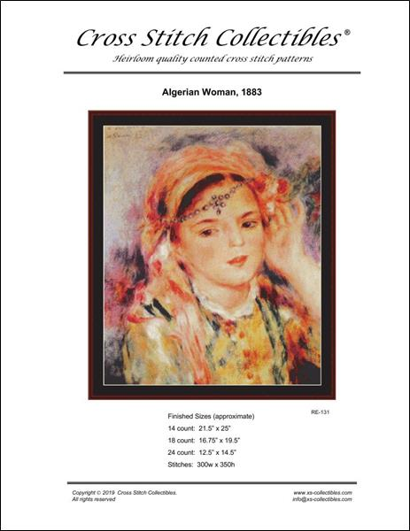 click here to view larger image of Algerian Woman 1883 (chart)