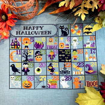 click here to view larger image of Halloween Calendar (chart)
