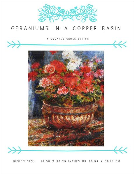 click here to view larger image of Geraniums in a Copper Basin (chart)