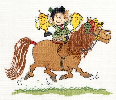 click here to view larger image of Trophies (counted cross stitch kit)