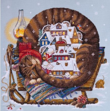 click here to view larger image of Cozy Winter (counted cross stitch kit)