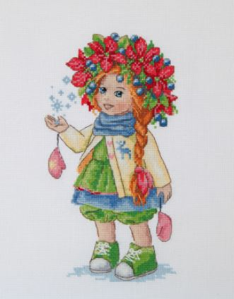 click here to view larger image of Winter Girl (counted cross stitch kit)