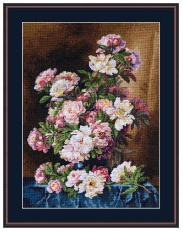 click here to view larger image of Lush Peonies (counted cross stitch kit)