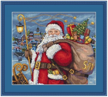 click here to view larger image of Santa is Coming! (counted cross stitch kit)