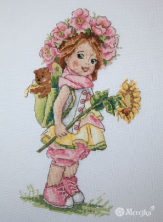 click here to view larger image of Summer Girl (counted cross stitch kit)