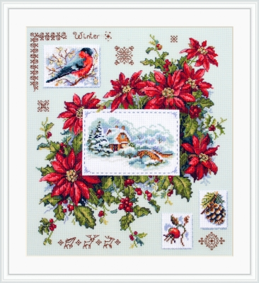 click here to view larger image of Winter Sampler (counted cross stitch kit)