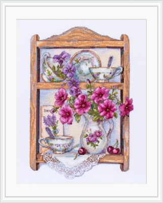click here to view larger image of Petunias (counted cross stitch kit)