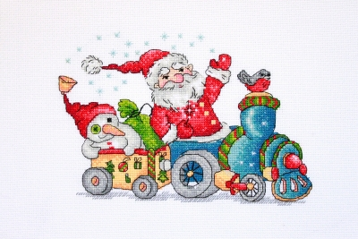 click here to view larger image of Christmas Travel (counted cross stitch kit)