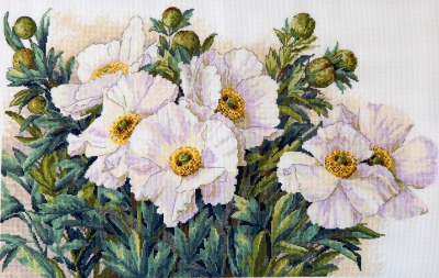 click here to view larger image of Garden Beauties (counted cross stitch kit)