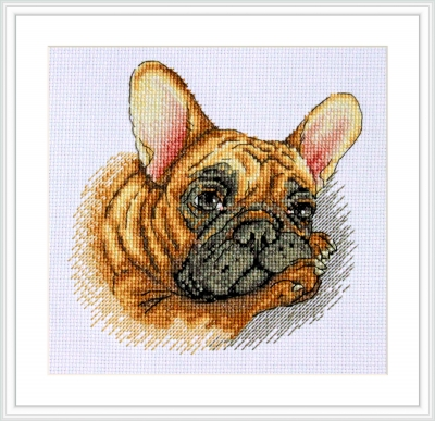 click here to view larger image of French Bulldog (counted cross stitch kit)