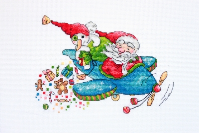 click here to view larger image of Christmas Flight (counted cross stitch kit)