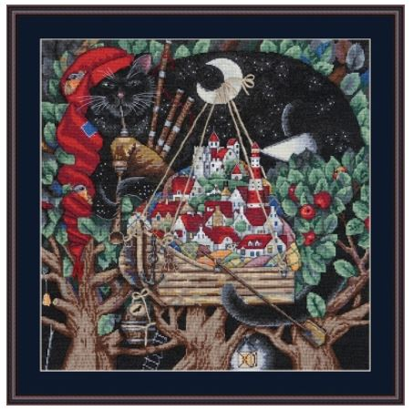 click here to view larger image of Old Melody, The (counted cross stitch kit)