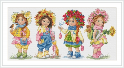 click here to view larger image of Sisters (counted cross stitch kit)