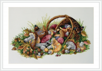 click here to view larger image of Mushrooms (counted cross stitch kit)