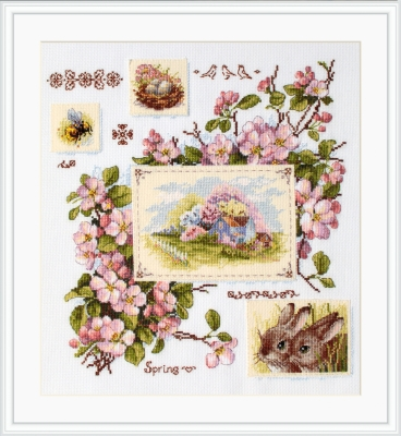 click here to view larger image of Spring Sampler (counted cross stitch kit)