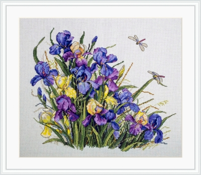 click here to view larger image of Irises - A (counted cross stitch kit)