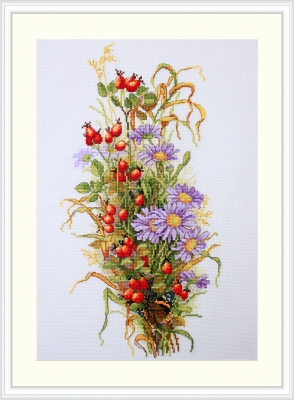 click here to view larger image of Wildrose Berries (counted cross stitch kit)