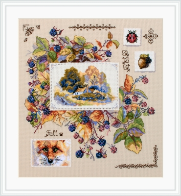 click here to view larger image of Autumn Sampler (counted cross stitch kit)