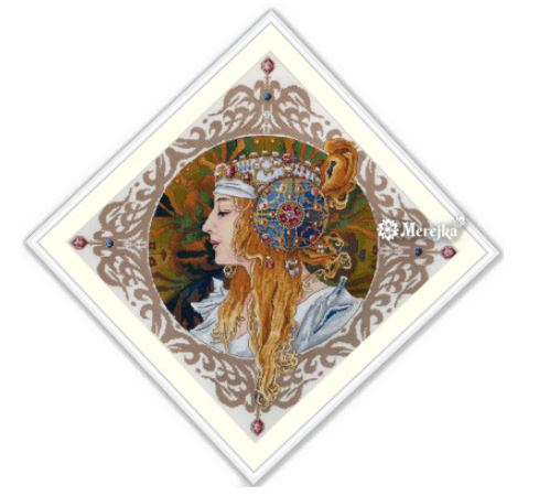 click here to view larger image of Blond by Mucha (counted cross stitch kit)