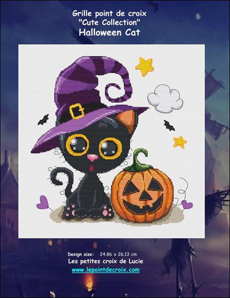 click here to view larger image of Halloween Cat (chart)