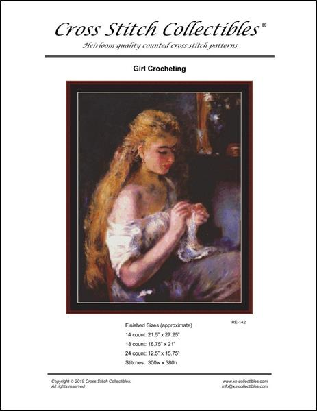 click here to view larger image of Girl Crocheting (chart)