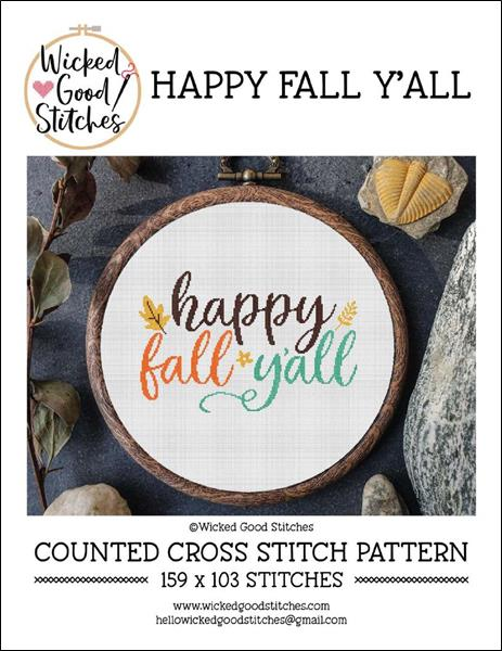 click here to view larger image of Happy Fall Y'all (chart)