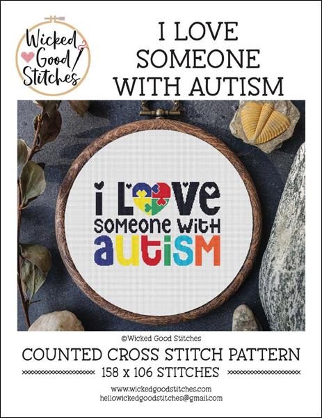 click here to view larger image of I Love Someone With Autism (chart)