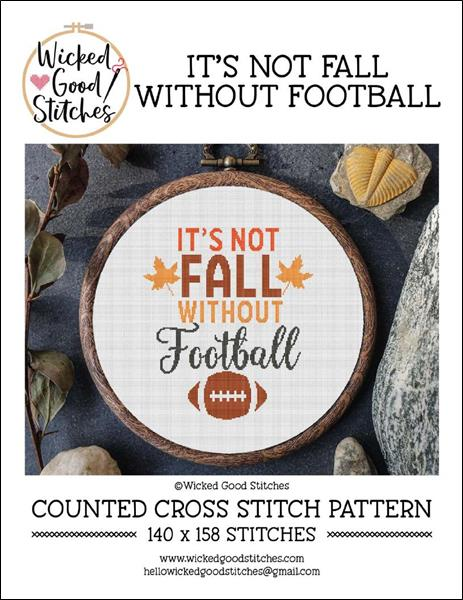 click here to view larger image of It's Not Fall Without Football (chart)