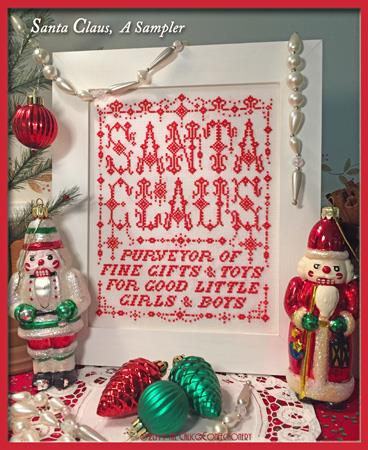 click here to view larger image of Santa Claus, A Sampler (chart)