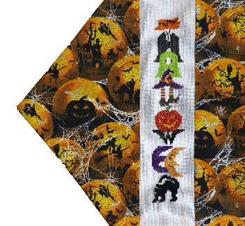click here to view larger image of Seasonal Table Runners - Halloween (chart)