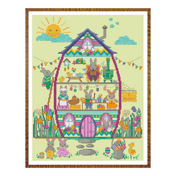 click here to view larger image of Easter Bunny House Series - Part 4 (chart (special))