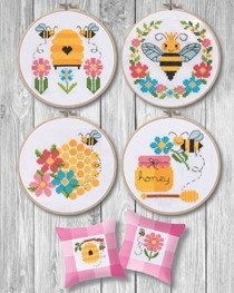 click here to view larger image of Bees & Honey (6 designs) (chart (special))